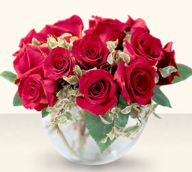 Şanlıurfa çiçekçiler  mika yada cam içerisinde 10 gül - sevenler için ideal seçim -