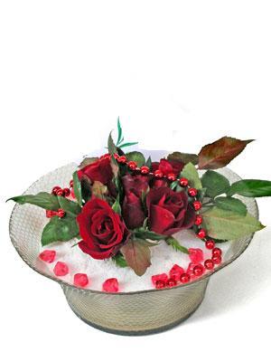 Şanlıurfa çiçekçi telefonları  EN ÇOK Sevenlere 7 adet kirmizi gül mika yada cam tanzim