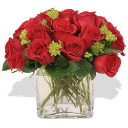 Şanlıurfa çiçek mağazası , çiçekçi adresleri  10 adet kirmizi gül ve cam yada mika vazo