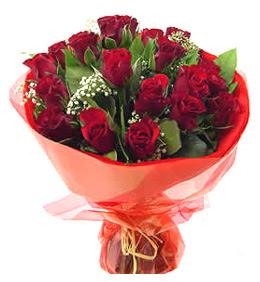 Şanlıurfa çiçek siparişi sitesi  11 adet kimizi gülün ihtisami buket modeli