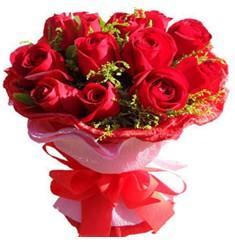 9 adet kirmizi güllerden kipkirmizi buket  Şanlıurfa çiçek yolla