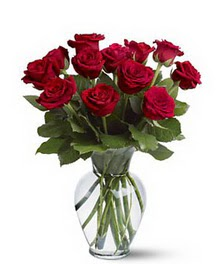 Şanlıurfa hediye sevgilime hediye çiçek  cam yada mika vazoda 10 kirmizi gül