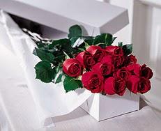 Şanlıurfa kaliteli taze ve ucuz çiçekler  özel kutuda 12 adet gül