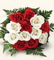 Şanlıurfa güvenli kaliteli hızlı çiçek  10 adet kirmizi beyaz güller - anneler günü için ideal seçimdir -