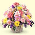 Şanlıurfa hediye çiçek yolla  sepet içerisinde gül ve mevsim