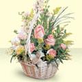 Şanlıurfa çiçekçi mağazası  sepette pembe güller