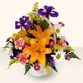 Şanlıurfa çiçekçi mağazası  sepet içinde karisik çiçekler