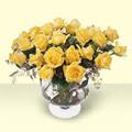 Şanlıurfa çiçek mağazası , çiçekçi adresleri  11 adet sari gül cam yada mika vazo içinde