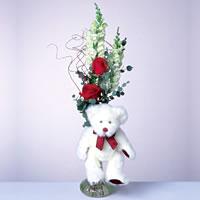 2 adet gül ve panda özel  Şanlıurfa çiçek yolla , çiçek gönder , çiçekçi
