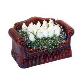 seramik içerisinde 11 gül  Şanlıurfa online çiçekçi , çiçek siparişi