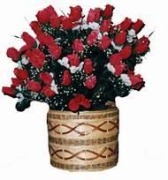 yapay kirmizi güller sepeti   Şanlıurfa online çiçek gönderme sipariş