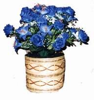 yapay mavi çiçek sepeti  Şanlıurfa ucuz çiçek gönder
