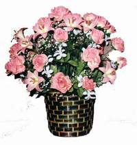 yapay karisik çiçek sepeti  Şanlıurfa çiçekçiler
