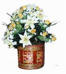 yapay karisik çiçek sepeti   Şanlıurfa ucuz çiçek gönder
