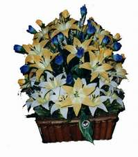 yapay karisik çiçek sepeti   Şanlıurfa çiçek servisi , çiçekçi adresleri