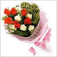 5 kirmizi 5 beyaz güllerden   Şanlıurfa çiçek satışı