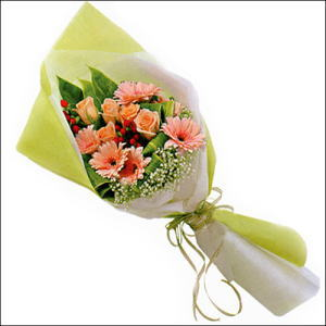 sade güllü buket demeti  Şanlıurfa çiçek yolla , çiçek gönder , çiçekçi
