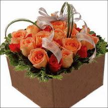 kare sandikta 11 gülllerden   Şanlıurfa çiçek yolla , çiçek gönder , çiçekçi
