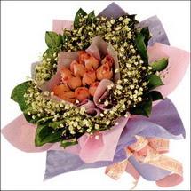 11  adet  gül ve   elyaflar   Şanlıurfa çiçek yolla , çiçek gönder , çiçekçi