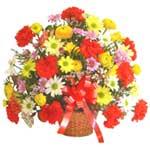 karisik renkli çiçek sepet   Şanlıurfa hediye sevgilime hediye çiçek