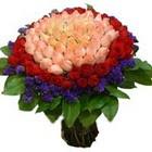 71 adet renkli gül buketi   Şanlıurfa yurtiçi ve yurtdışı çiçek siparişi