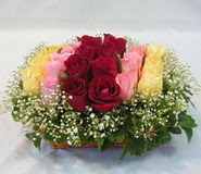 15 adet reprenkli gül sepeti   Şanlıurfa çiçek online çiçek siparişi