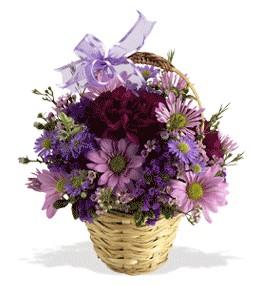 Şanlıurfa hediye çiçek yolla  sepet içerisinde krizantem çiçekleri