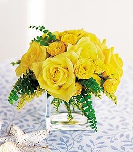 Şanlıurfa ucuz çiçek gönder  cam içerisinde 12 adet sari gül