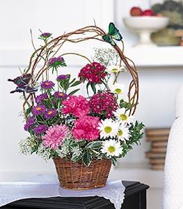 Şanlıurfa ucuz çiçek gönder  sepet içerisinde karanfil gerbera ve kir çiçekleri