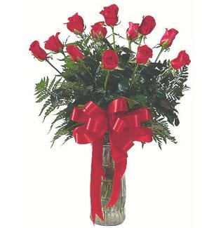 12 adet gül cam içerisinde  Şanlıurfa ucuz çiçek gönder