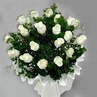 Şanlıurfa online çiçekçi , çiçek siparişi  11 adet beyaz gül buketi ve bembeyaz amnbalaj