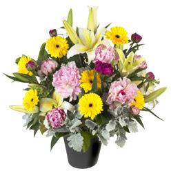 karisik mevsim çiçeklerinden vazo tanzimi  Şanlıurfa hediye çiçek yolla