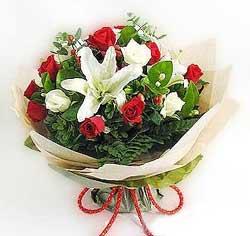 güller ve kazablanklardan görsel bir buket  Şanlıurfa çiçek gönderme sitemiz güvenlidir