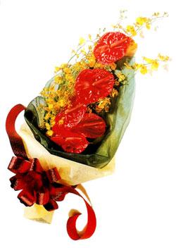 özel 5 adet antorium buketi   Şanlıurfa hediye sevgilime hediye çiçek