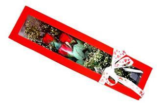 Şanlıurfa online çiçekçi , çiçek siparişi  Kutuda 3 adet gül