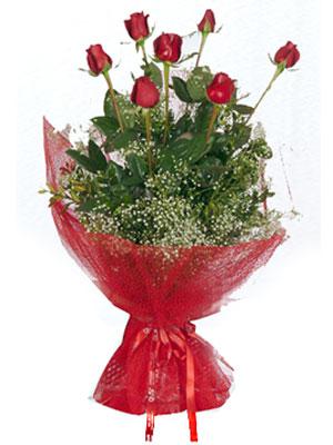 Şanlıurfa internetten çiçek siparişi  7 adet gülden buket görsel sik sadelik