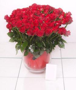 Şanlıurfa çiçek , çiçekçi , çiçekçilik  101 adet kirmizi gül