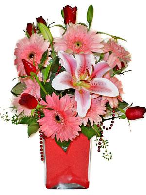 Şanlıurfa çiçek , çiçekçi , çiçekçilik  karisik cam yada mika vazoda mevsim çiçekleri mevsim demeti