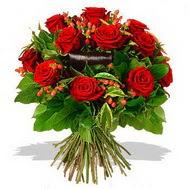 9 adet kirmizi gül ve kir çiçekleri  Şanlıurfa çiçek gönderme sitemiz güvenlidir