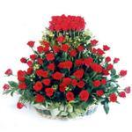 Şanlıurfa online çiçek gönderme sipariş  41 adet kirmizi gülden sepet tanzimi