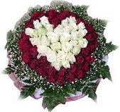 Şanlıurfa çiçek siparişi vermek  27 adet kirmizi ve beyaz gül sepet içinde