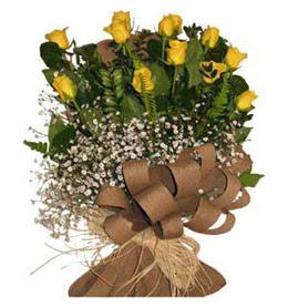 Şanlıurfa çiçek online çiçek siparişi  9 adet sari gül buketi