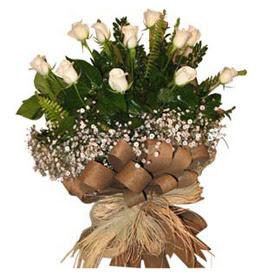 Şanlıurfa çiçek mağazası , çiçekçi adresleri  9 adet beyaz gül buketi