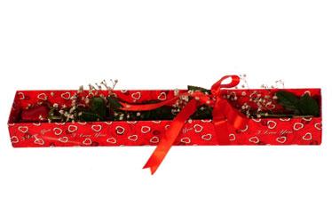 Şanlıurfa çiçek mağazası , çiçekçi adresleri  kutu içerisinde 1 adet kirmizi gül