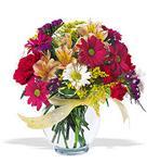 Şanlıurfa güvenli kaliteli hızlı çiçek  cam yada mika vazo içerisinde karisik kir çiçekleri