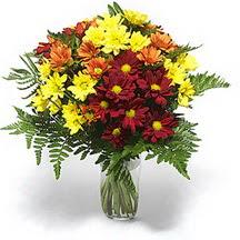 Şanlıurfa İnternetten çiçek siparişi  Karisik çiçeklerden mevsim vazosu