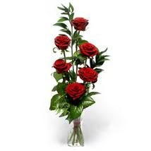 Şanlıurfa İnternetten çiçek siparişi  cam yada mika vazo içerisinde 6 adet kirmizi gül