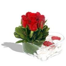 Mika kalp içerisinde 9 adet kirmizi gül  Şanlıurfa internetten çiçek siparişi
