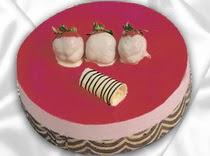 pasta siparisi 4 ile 6 kisilik yas pasta çilekli yaspasta  Şanlıurfa internetten çiçek siparişi