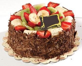 pastaci firmasindan 4 ile 6 kisilik çikolata meyvali yaspasta  Şanlıurfa İnternetten çiçek siparişi
